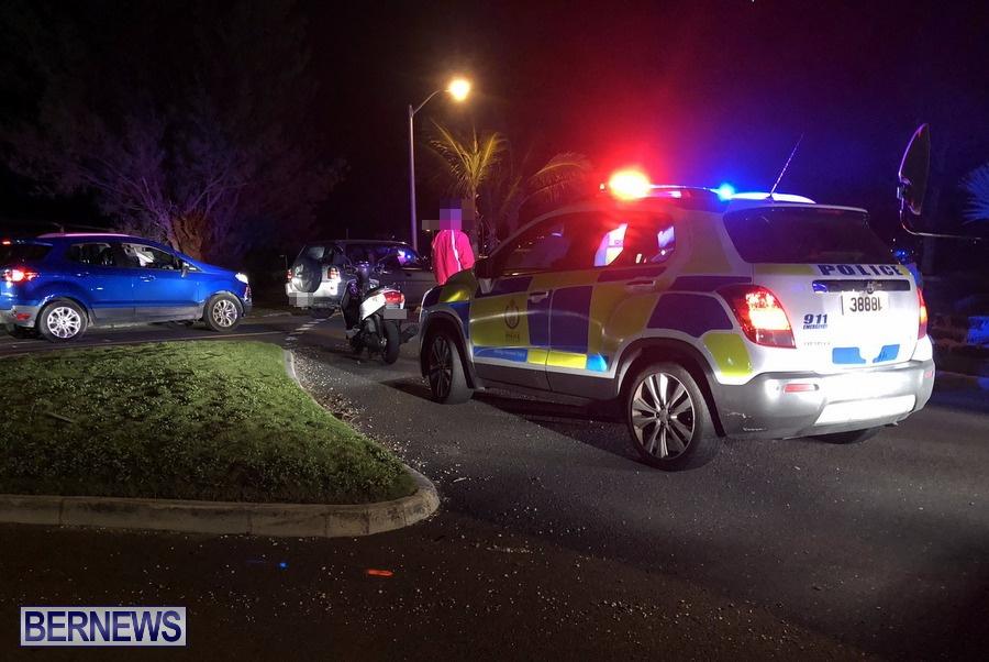 Police Car at collision Causeway Bermuda, December 26 2019 (1)