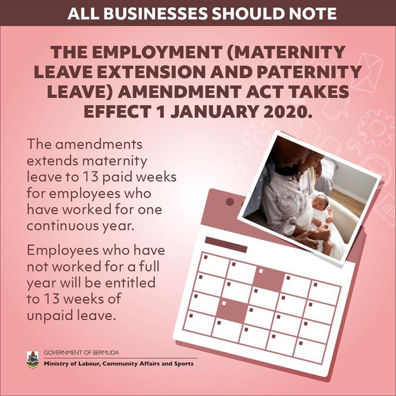 The Employment Amendment Act Bermuda Dec 2019