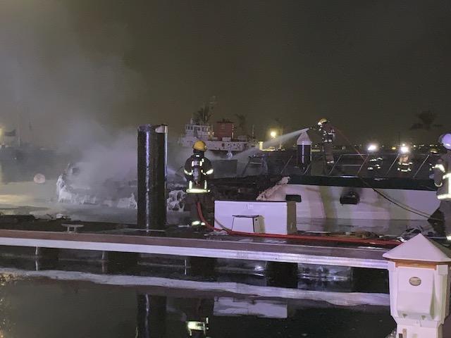 Boat Fire In Dockyard Bermuda Jan 2020 (7)