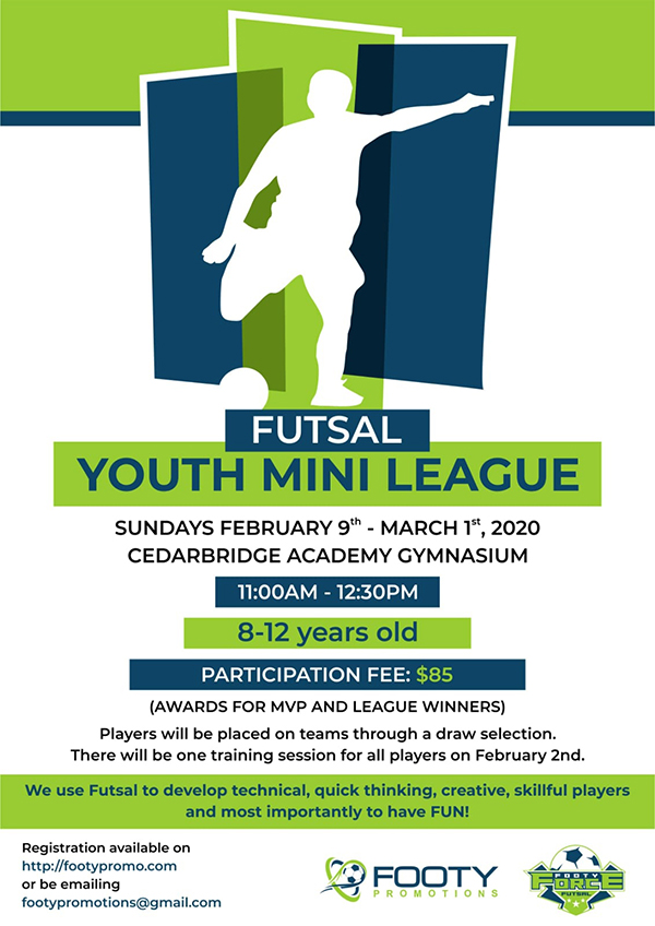 Footy Promotions Youth Mini Futsal League Bermuda Jan 2020