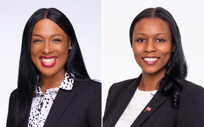 Jasmine DeSilva and Anastasia Slater Bermuda Jan 2020