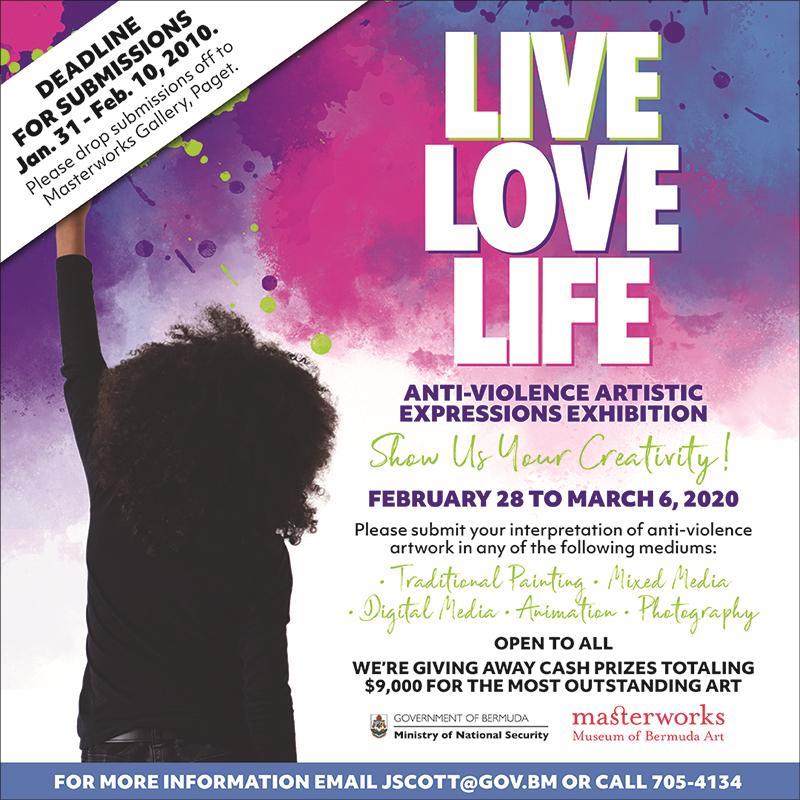 Live Love Life Anti Violence Artistic Expressions Exhibition Bermuda Jan 2020