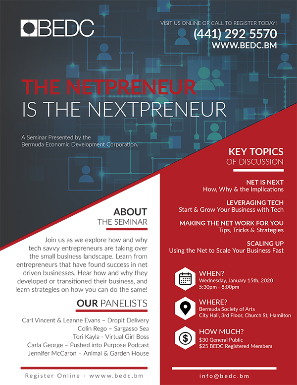 Netpreneur Is The Nextpreneur Seminar Bermuda Jan 2020