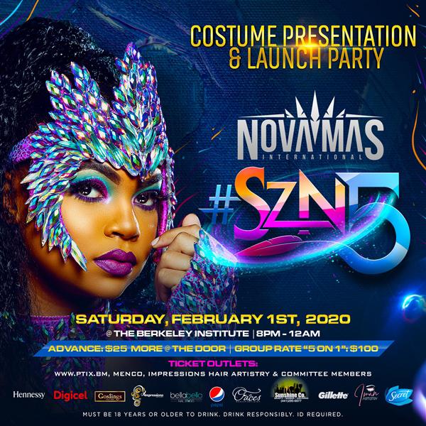 Nova Mas Costume Launch Bermuda Jan 2020