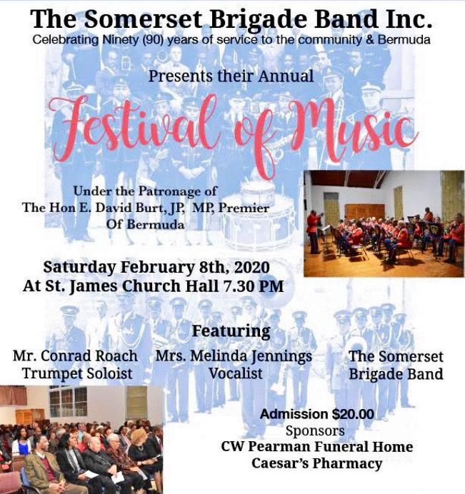 Somerset Brigade Band Bermuda Jan 2020