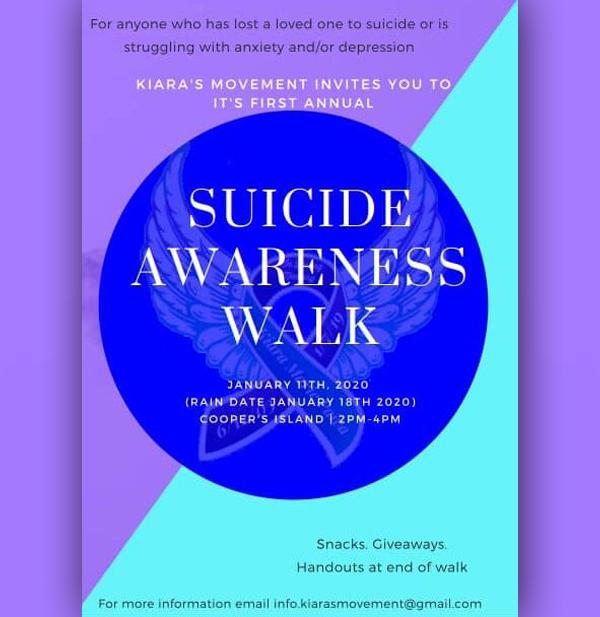 Suicide Awareness Walk Bermuda Jan 2020