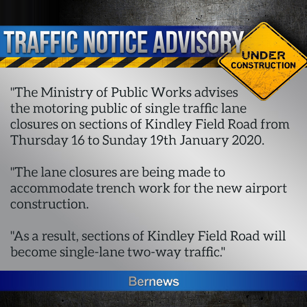 Traffic Advisory Bermuda Jan 15 2020
