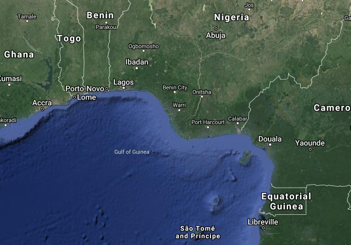 google maps gulf of guinea
