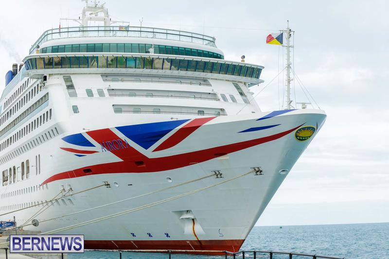 Aurora cruise ship in Bermuda Feb 2020 Dockyard (7)