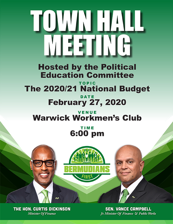 Budget Town Hall Bermuda Feb 2020