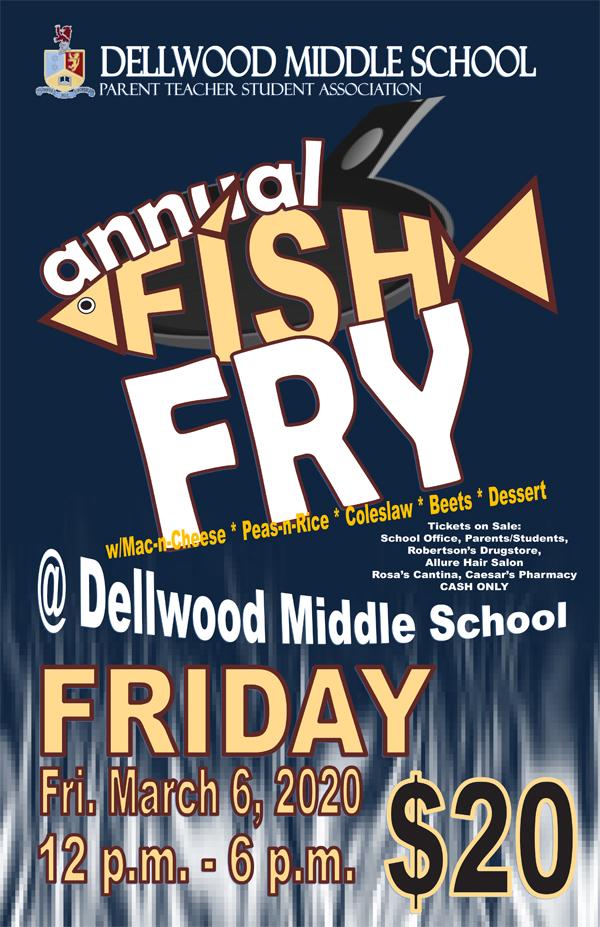 Dellwood Middle School Fish Fry Bermuda March 2020