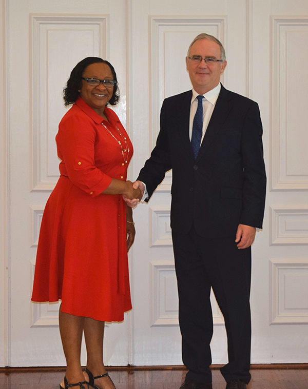 Governor John Rankin & Premier Sharlene Cartwright-Robinson Bermuda Feb 2020