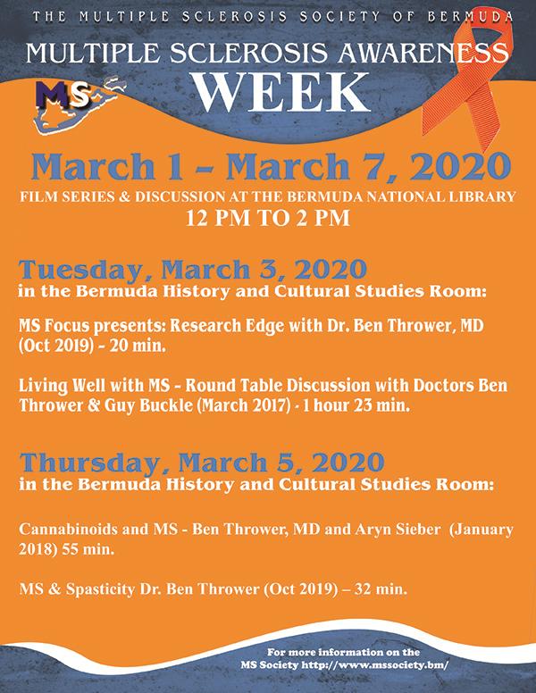 MS Awareness Week 2020 Feb 2020