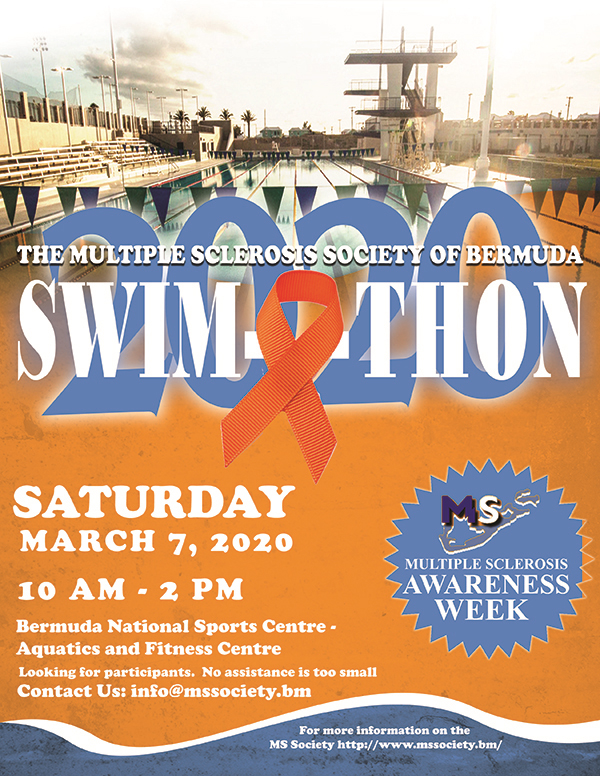MS Society 3rd Annual Swimathon Bermuda Feb 2020