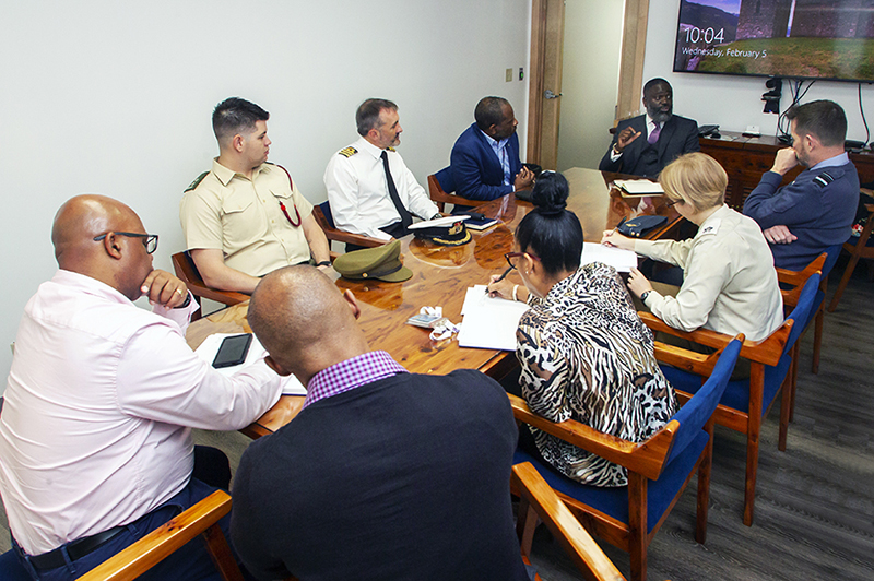 Minister Caines Welcomes UK Defence Attaché Bermuda Feb 2020 (1)