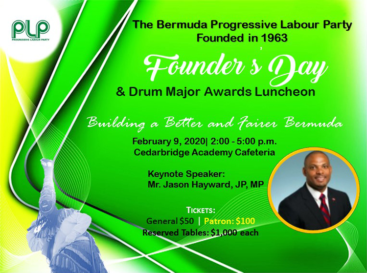 PLP Founders Day Bermuda Feb 2020