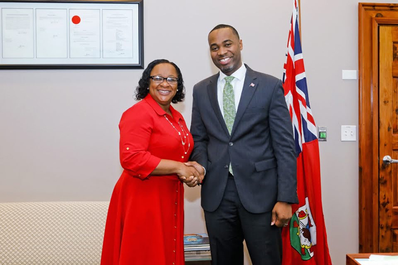 Premier Meets With Turks & Caicos Premier Bermuda Feb 20 2020 (3)