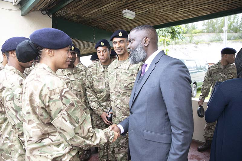Premier & Minister Caines Visit RBR Recruits  Bermuda Feb 2020 (5)