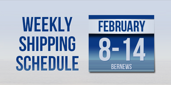 Weekly Shipping Schedule TC Feb 8-14 2020