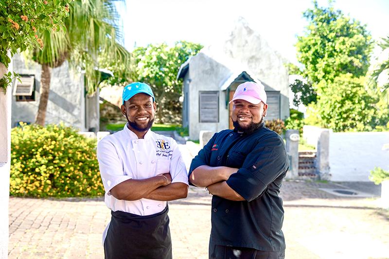 Chefs Jaelen Steede & Raeven White Bermuda March 2020