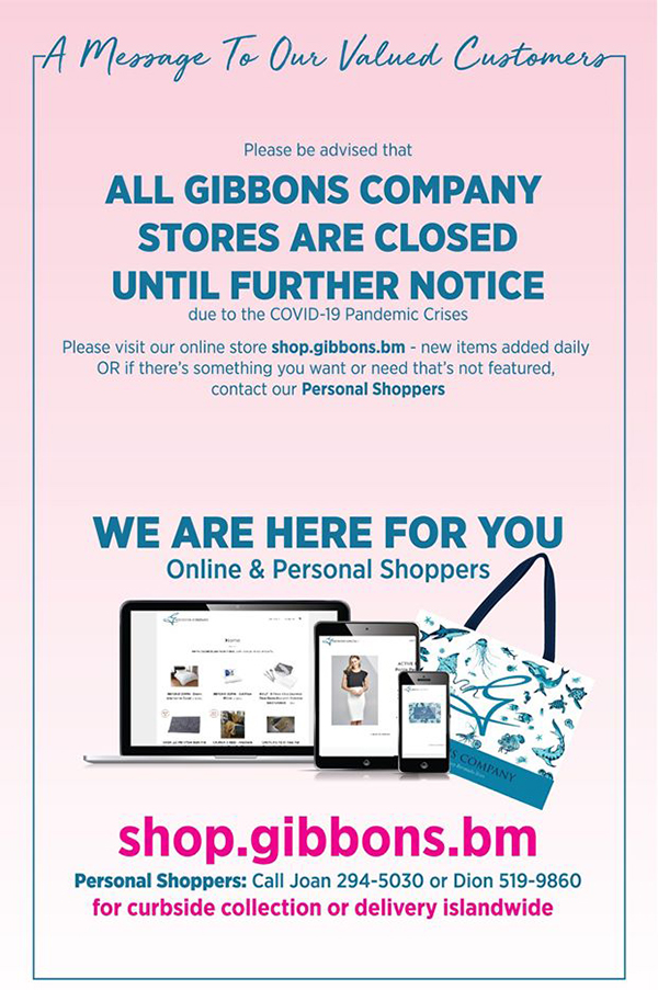 Gibbons Stores Closed Covid-19 Bermuda March 2020