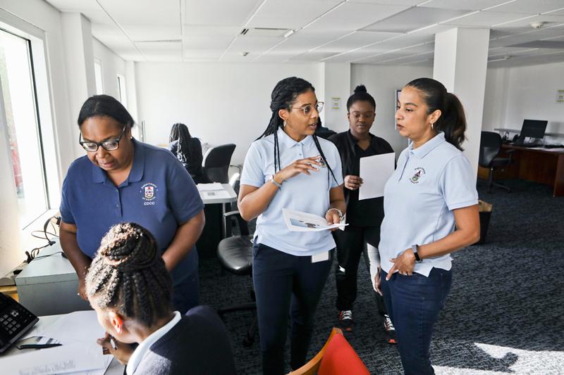 Minister Kim Wilson Visits Covid-19 Call Centre Bermuda March 2020 (4)