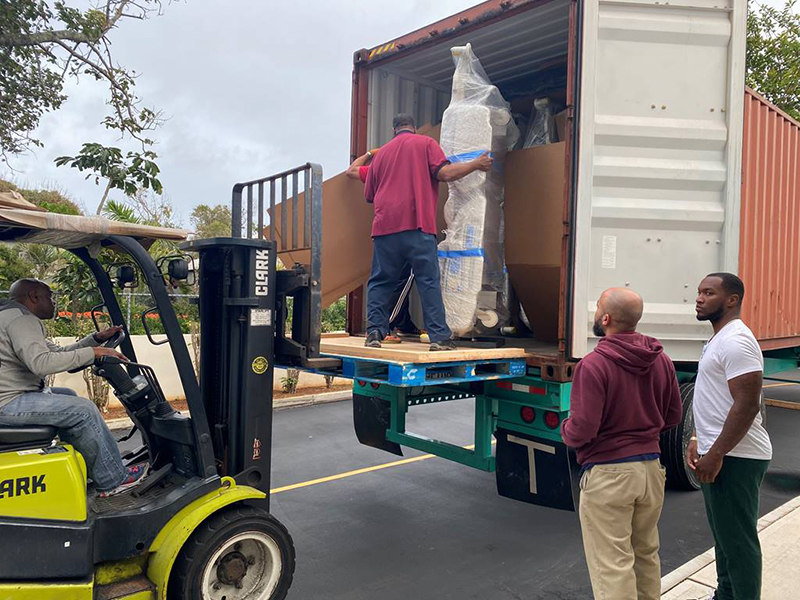New Beds Arrive At KEMH Bermuda March 2020 (2)