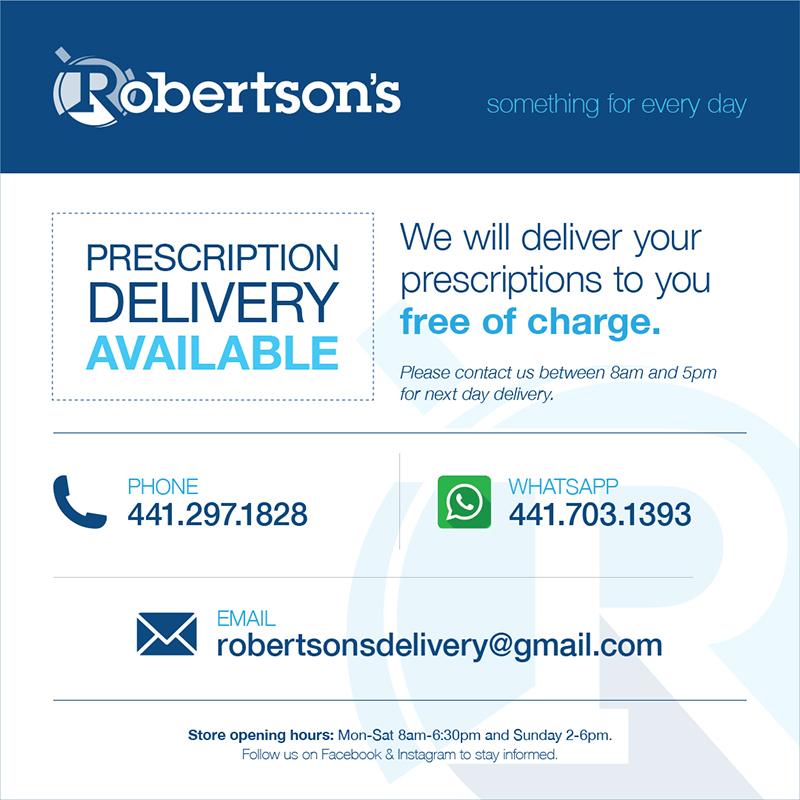 Robertson's Drug Store Bermuda March 24 2020