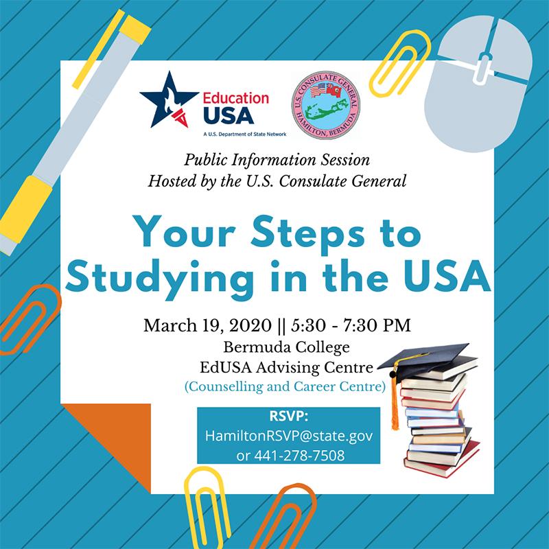 US Consulate Info Session Bermuda March 2020