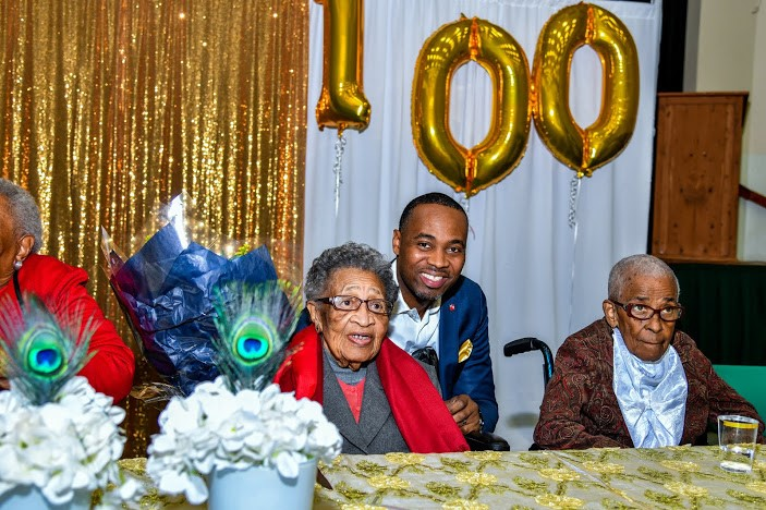 Virginia DeGraff Celebrates 100th Birthday Bermuda March 2020 (1)