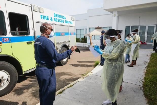 Bermuda drive through testing Covid 19 virus April 2020 (5)