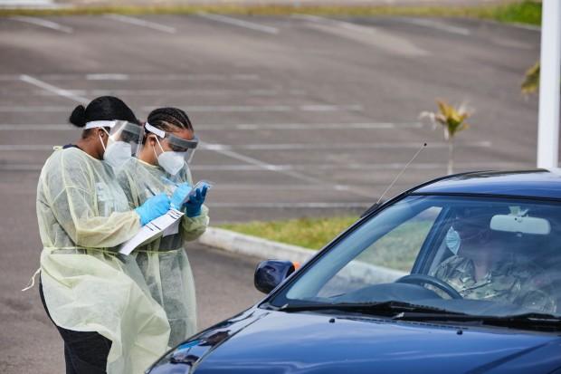 Bermuda drive through testing Covid 19 virus April 2020 (6)