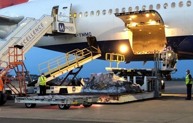 British Airways flight arrives in Bermuda April 24 2020 (1)