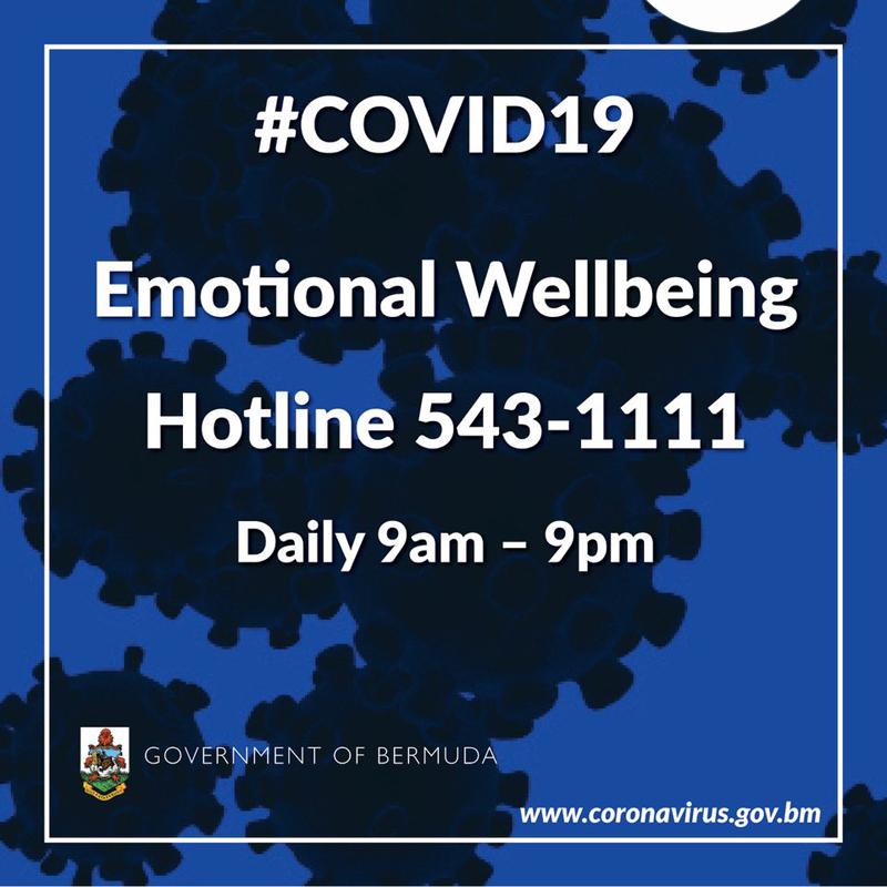 Emotional Wellbeing Hotline Bermuda April 2020