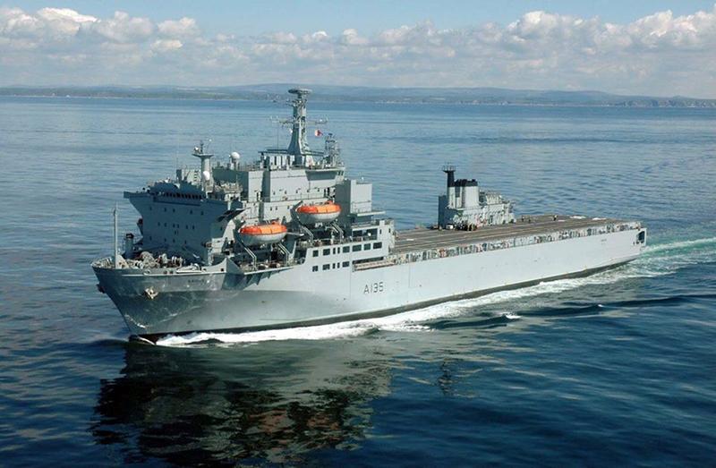 Royal Fleet Auxiliary Ship Bermuda April 2020
