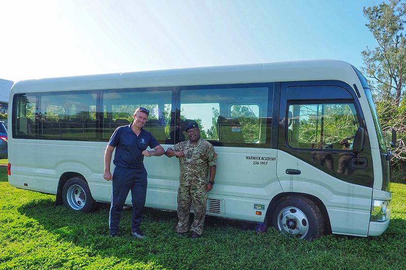Warwick Academy Mini Buses Bermuda April 2020 (1)