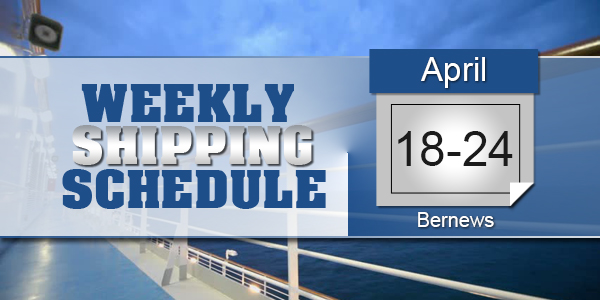 Weekly Shipping Schedule TC April 18-24 2020