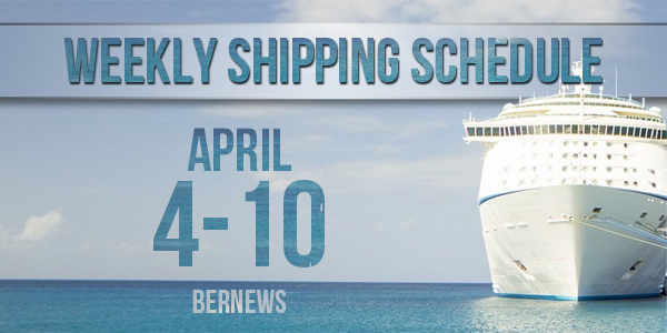 Weekly Shipping Schedule TC April 4-10 2020