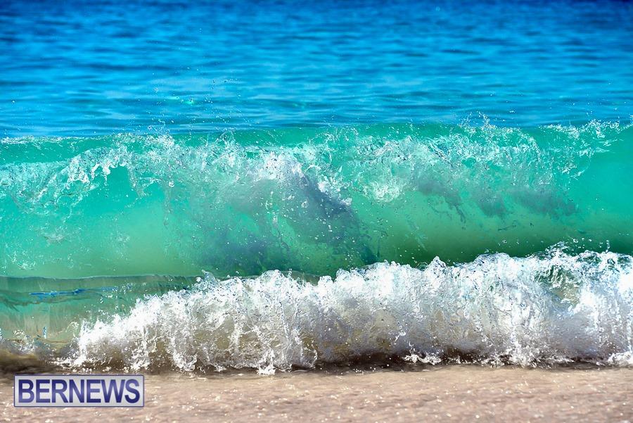 424 - Watching the waves break on a Bermuda beach is one of life's simple pleasures