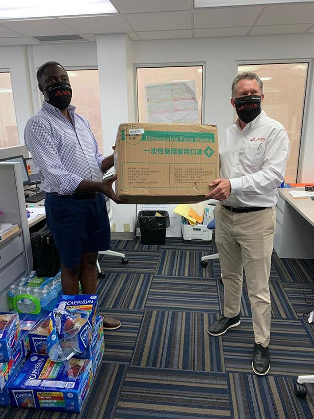 Auto Solutions Donates 5,000 Face Masks Bermuda May 2020