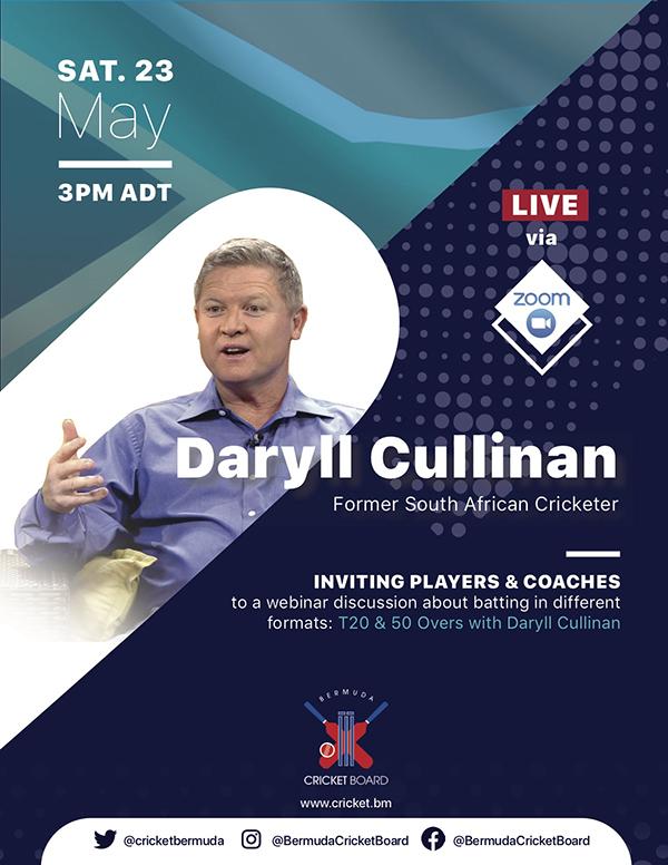 BCB Zoom Webinar Featuring Daryll Cullinan Bermuda May 2020