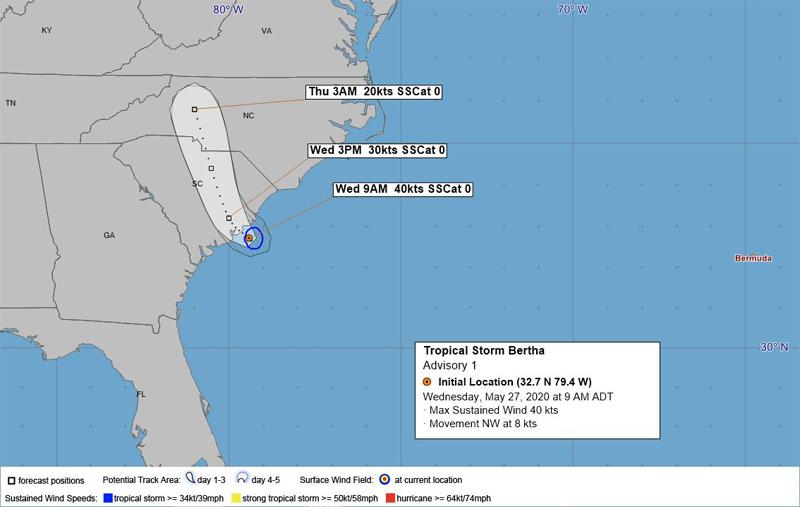 BWS Tropical Storm Bertha May 27 2020