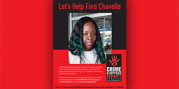 Chavelle Dillon-Burgess Crime Stoppers Bermuda May 2020 TWFB