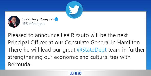 Secretary Pompeo tweet Bermuda May 28 2020