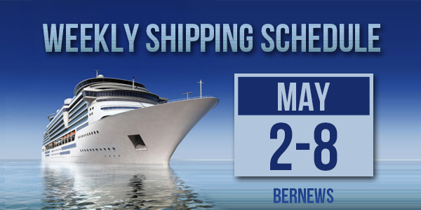 Weekly Shipping Schedule TC May 2 - 8 2020