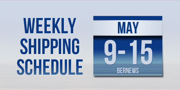 Weekly Shipping Schedule TC May 9 -15 2020