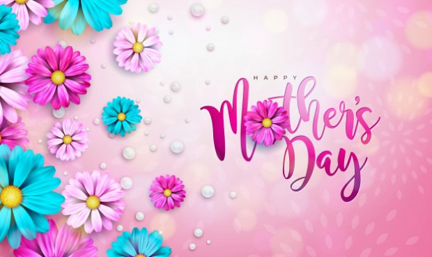 happy-mother-s-day-greeting-card-design-with-flower-typography-letter-pink-background_1314-2682