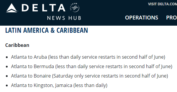 screenshot from delta website may 2020