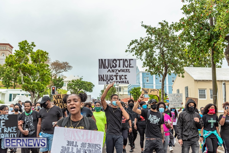 2020 BLM Black Lives Bermuda March June JS (33)