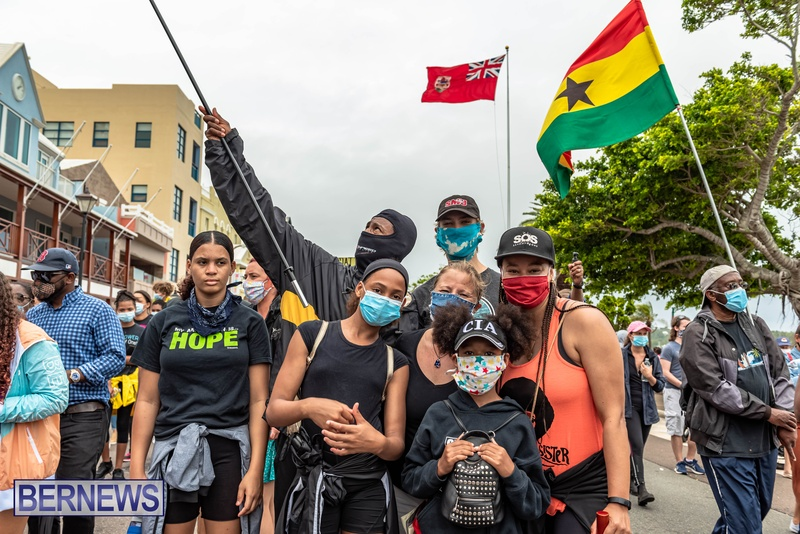 2020 BLM Black Lives Bermuda March June JS (49)